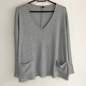 BDG Baby Blue Sweater with Pockets - Size S
